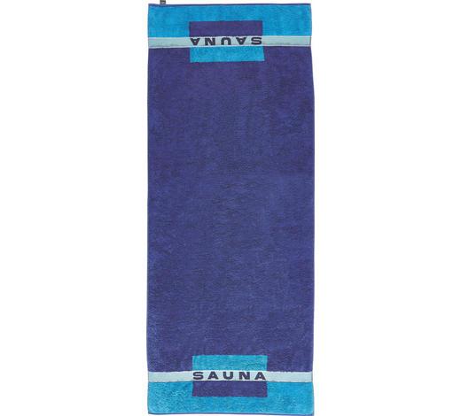 SAUNATUCH 80/200 cm  - Blau, Basics, Textil (80/200cm) - Cawoe