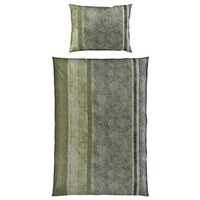 BETTWÄSCHE 140/200 cm - Olivgrün, LIFESTYLE, Textil (140/200cm) - Estella