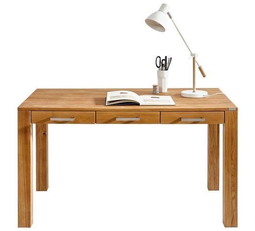 Schreibtisch Eiche Massiv Eichefarben