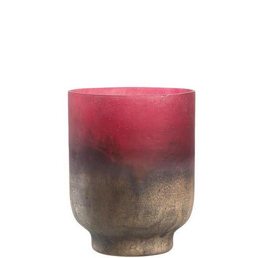 WINDLICHT - Rot/Goldfarben, LIFESTYLE, Glas (15,00/19,30cm) - Leonardo
