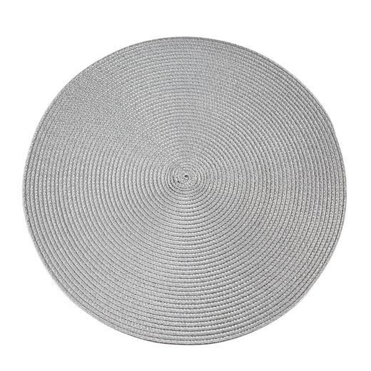 PLATZDECKCHEN Kunststoff Hellgrau 38 cm - Hellgrau, Basics, Kunststoff (38cm) - Ambia Home