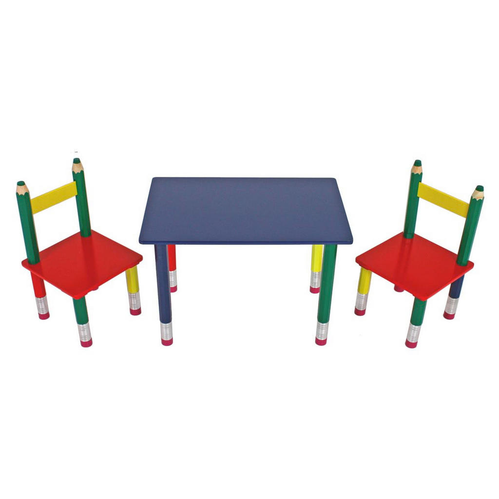3-teilige Kindersitzgruppe in Bleistiftoptik