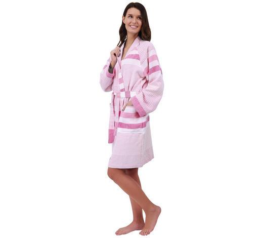 BADEMANTEL M - Pink/Weiß, Basics, Textil (Mnull) - Esposa
