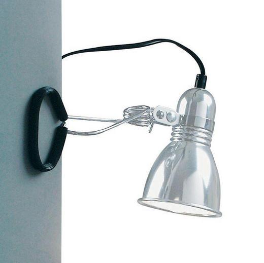 KLEMMLEUCHTE - Chromfarben/Schwarz, Design, Metall (9/17cm)