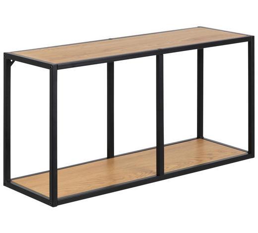 WANDREGAL - Eichefarben/Schwarz, Trend, Holzwerkstoff/Metall (72,5/37/24cm) - Carryhome