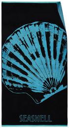 STRANDTUCH 90/180 cm - Blau/Schwarz, MODERN, Textil (90/180cm) - Esposa