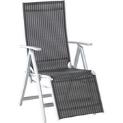 GARTEN-RELAXSESSEL - Silberfarben/Schwarz, Design, Textil/Metall (58/108/86cm) - Xora