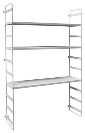 VÄGGHYLLA - vit, Design, metall (60/95/18cm)