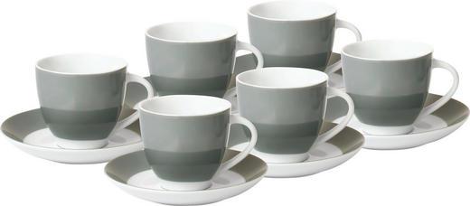 UNTERTASSENSET - Weiß/Grau, Basics, Keramik (14,5cm)