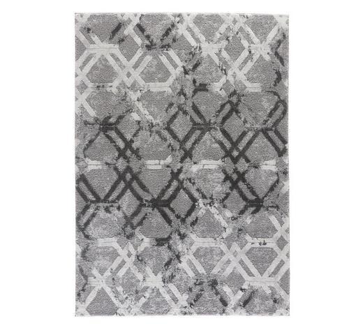 WEBTEPPICH - Grau, Design, Textil (160/230cm) - Novel
