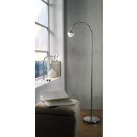 LED-STEHLEUCHTE - Chromfarben, Basics, Kunststoff/Metall (125cm) - Novel