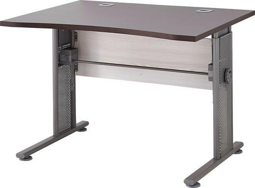 SCHREIBTISCH Eichefarben, Lärchefarben - Eichefarben/Lärchefarben, Design, Metall (100/70-80/80cm) - Carryhome
