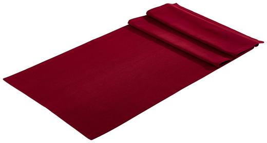 TISCHLÄUFER Textil Webstoff Bordeaux 45/150 cm - Bordeaux, Textil (45/150cm) - Bio:Vio