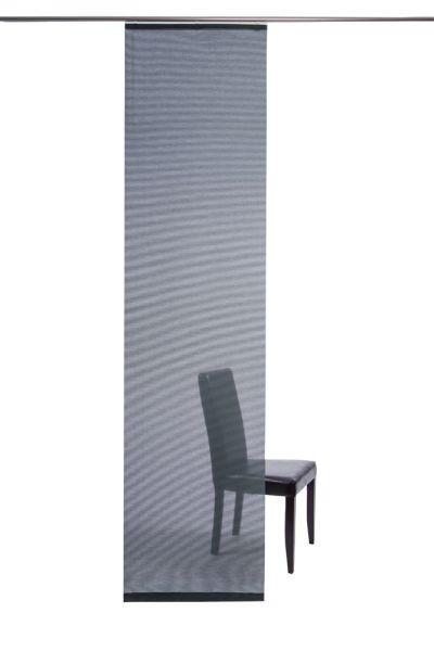 FLÄCHENVORHANG   transparent   60/245 cm - Blau, Design, Textil (60/245cm)