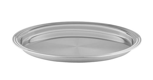 SERVIERPLATTE - Edelstahlfarben, KONVENTIONELL, Metall (40//cm) - Homeware