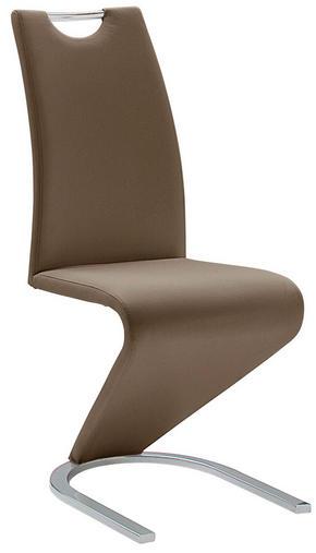 SVIKTSTOL - brun/kromfärg, Design, metall/textil (45/102/62cm)