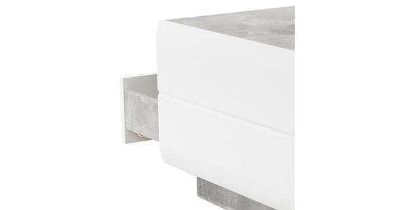 Couchtisch Holz mit Stauraum Avensis, Betonoptik Hell - Weiß/Grau, MODERN, Holzwerkstoff (75/40/75cm) - Luca Bessoni