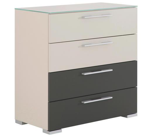 KOMMODE 80/80/40 cm  - Chromfarben/Weiß, Design, Glas/Holzwerkstoff (80/80/40cm) - Hülsta