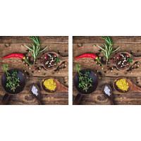 Essen & Trinken GLASBILD - Multicolor, KONVENTIONELL, Glas (20/40cm)