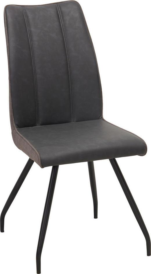 STUHL in Metall, Textil Grau, Schwarz, Taupe - Taupe/Schwarz, Design, Textil/Metall (45/96/62,5cm) - Carryhome