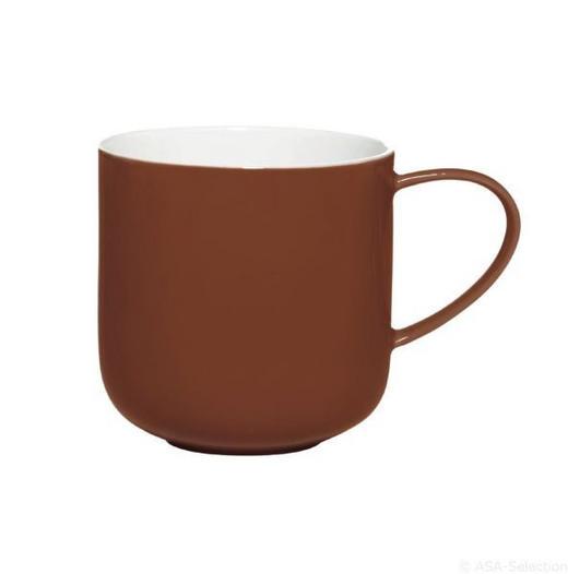 KAFFEEBECHER - Dunkelbraun, Trend, Keramik (9,2/9,5cm) - ASA