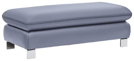 HOCKER Webstoff Hellblau - Chromfarben/Hellblau, Design, Textil (127/64cm) - Venda