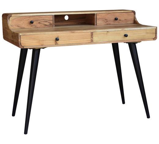 PISALNA MIZA les, kovina, leseni material črna, akacija  - črna/akacija, Design, kovina/leseni material (115/90/60cm) - Landscape