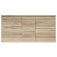 SIDEBOARD - Eschefarben/Alufarben, Design, Holz (162/80/41cm) - Venda
