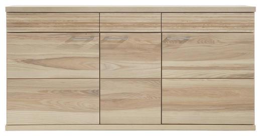 SIDEBOARD Kernesche massiv Eschefarben - Eschefarben/Alufarben, Design, Holz (162/80/41cm) - Venda