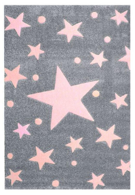 KINDERTEPPICH  140/140 cm  Grau, Rosa, Silberfarben - Silberfarben/Rosa, Basics, Textil (140/140cm)
