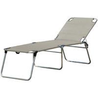 DREIBEINLIEGE Aluminium Grau, Alufarben  - Alufarben/Grau, Design, Textil/Metall (60/42/190cm) - Jan Kurtz