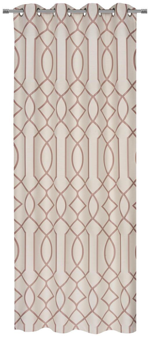 ÖSENSCHAL  blickdicht  140/245 cm - Rosa, KONVENTIONELL, Textil (140/245cm) - Esposa