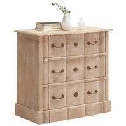 KOMMODE - Weiß/Kupferfarben, Trend, Holz/Metall (85/81/45cm) - Ambia Home