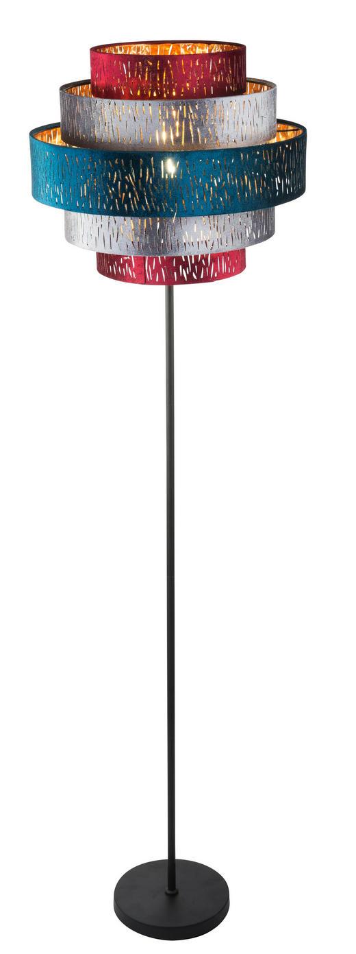 STEHLEUCHTE - Multicolor/Schwarz, MODERN, Textil/Metall (45/164cm)