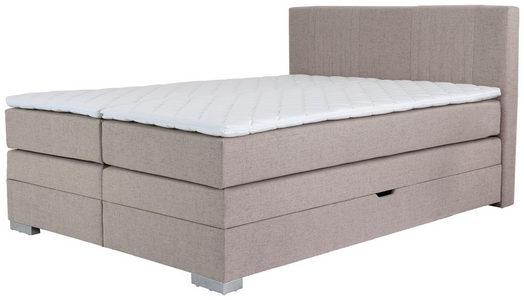 BOXSPRING KREVET - Bež, Dizajnerski, Tekstil (180/105/200cm) - Hom`in