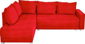 WOHNLANDSCHAFT in Rot Textil - Silberfarben/Rot, Design, Kunststoff/Textil (207/243cm) - Xora