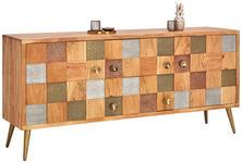 SIDEBOARD 175/80/45 cm  - Goldfarben/Braun, Trend, Holz/Metall (175/80/45cm) - Landscape
