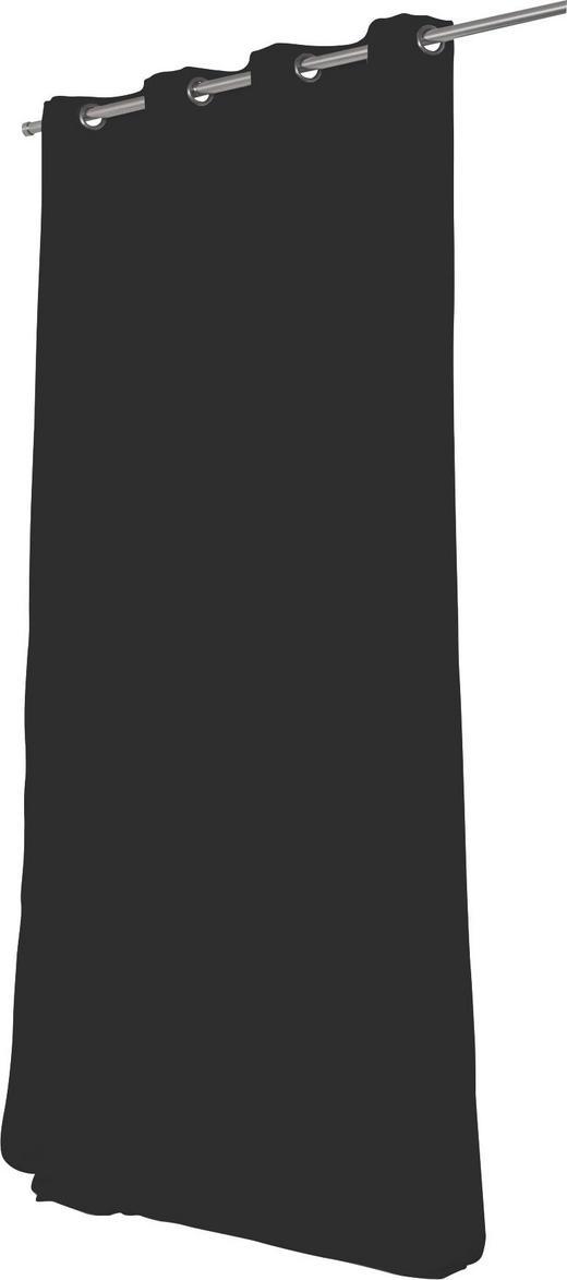 WÄRMESCHUTZVORHANG  Verdunkelung  145/260 cm - Schwarz, Textil/Metall (145/260cm)
