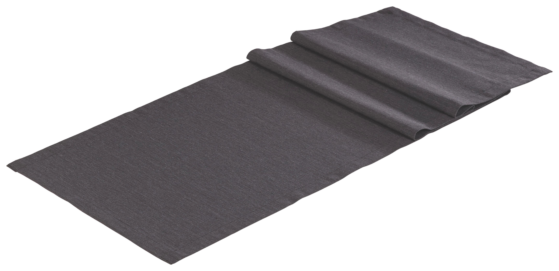TISCHLÄUFER Textil Leinwand, Struktur Anthrazit 40/150 cm - Anthrazit, Textil (40/150cm) - NOVEL