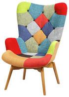 FOTELJA - višebojno/boje bukve, Design, tekstil/drvo (69/96/75cm) - Hom`in