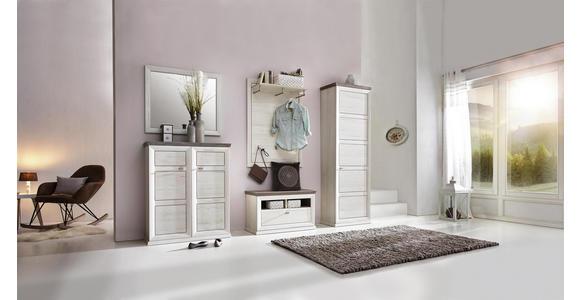 SCHUHSCHRANK 90,2/108,5/38,5 cm - Weiß/Grau, LIFESTYLE, Holzwerkstoff/Metall (90,2/108,5/38,5cm) - Hom`in