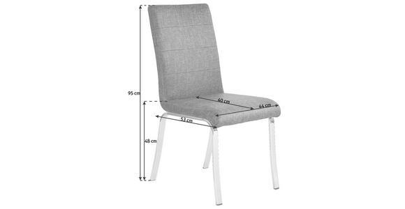 STUHL in Metall, Textil Dunkelrot, Edelstahlfarben - Edelstahlfarben/Beige, Design, Textil/Metall (44/95/53cm) - Dieter Knoll