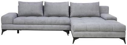 WOHNLANDSCHAFT in Textil Grau  - Schwarz/Grau, Design, Textil/Metall (315/212cm) - Carryhome