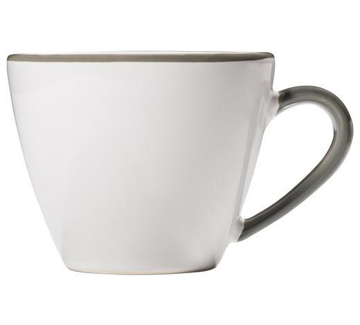KAFFEETASSE 200 ml - Weiß/Grau, LIFESTYLE, Keramik (12/7,5/9,2cm) - Gmundner