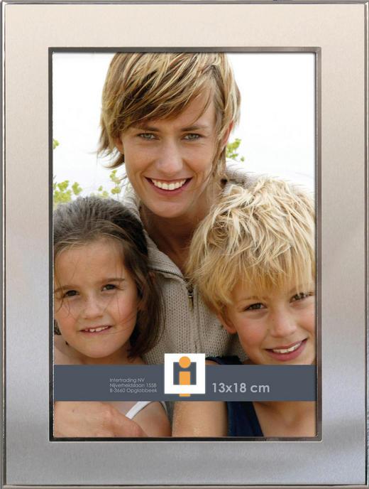 BILDERRAHMEN  Silberfarben - Silberfarben, Basics, Glas/Metall (16/21/2cm)