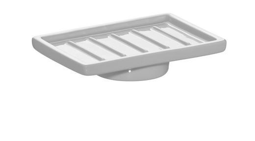 SEIFENSCHALE - Weiß, Basics, Keramik (11,8/2,85/7,7cm)