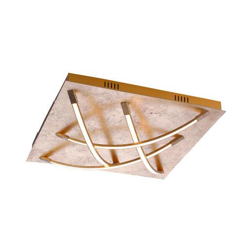 STROPNA LED SVETILKA JANO - zlata, Design, kovina (50/50/10cm)