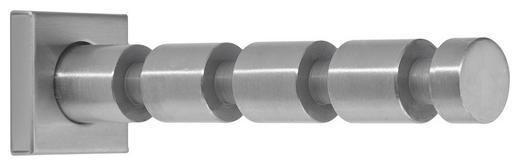 GARDEROBENHAKEN Edelstahlfarben - Edelstahlfarben, Design, Metall (4/4/15cm)