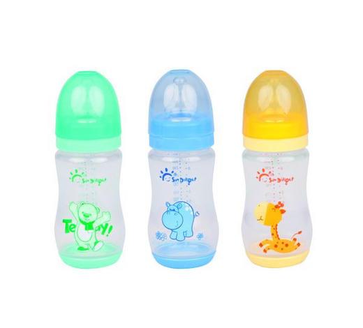 BABYFLASCHE 260 ml  - Blau/Gelb, Basics, Kunststoff (5,6/5,6/19cm)