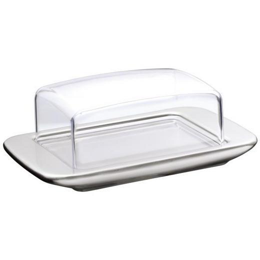 BUTTERDOSE Glas, Kunststoff, Metall - Klar/Edelstahlfarben, Basics, Glas/Kunststoff (9/18cm) - WMF